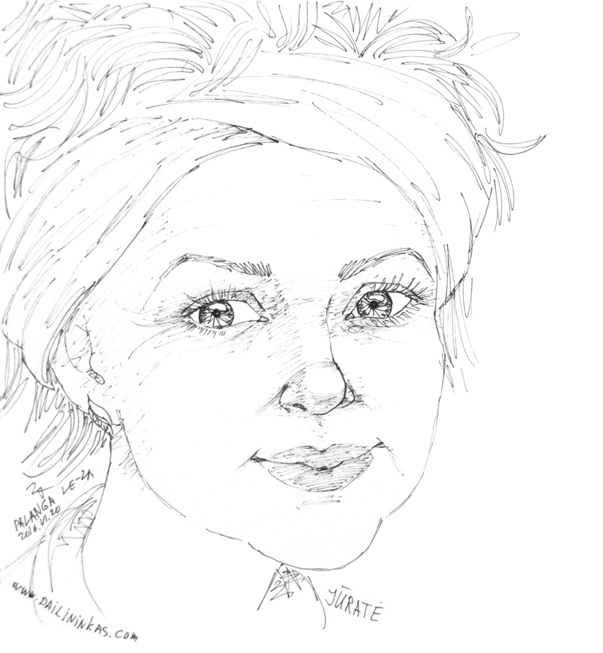 """Portrait of """"JURATE"""", life drawing life drawing from a live model"""