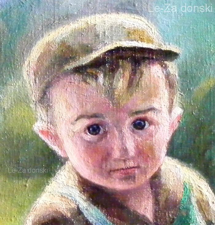 Child portrait, detail